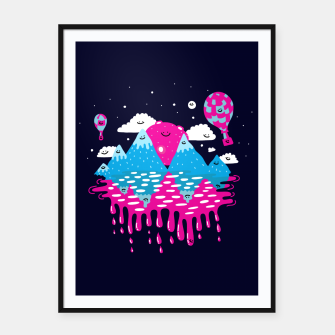 Miniaturka Moon, stars and balloons Framed poster, Live Heroes