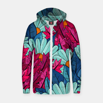Miniatur The leaves and flowers  Cotton zip up hoodie, Live Heroes