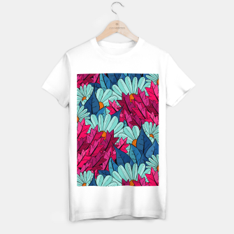 Miniatur The leaves and flowers  T-shirt regular, Live Heroes