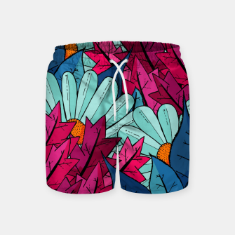 Miniatur The leaves and flowers  Swim Shorts, Live Heroes