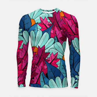 Miniatur The leaves and flowers  Longsleeve rashguard , Live Heroes