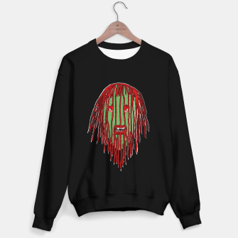 Thumbnail image of Long Hair Monster Portait Drawing Sweater regular, Live Heroes