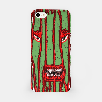 Thumbnail image of Long Hair Monster Portait Drawing iPhone Case, Live Heroes