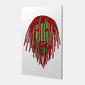Thumbnail image of Long Hair Monster Portait Drawing Canvas, Live Heroes