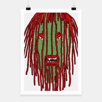 Thumbnail image of Long Hair Monster Portait Drawing Poster, Live Heroes