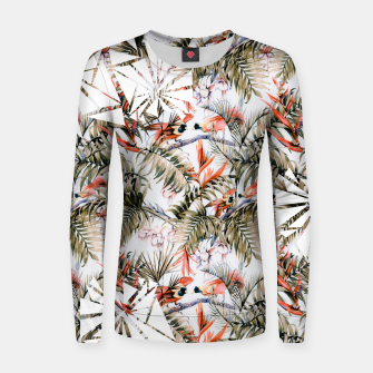Miniaturka Exotic birds in the jungle paradise Sudadera de algodón para mujer, Live Heroes