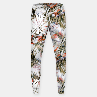 Thumbnail image of Exotic birds in the jungle paradise Pantalones de chándal de algodón, Live Heroes