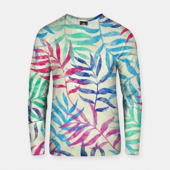 Imagen en miniatura de Watercolor Tropical Palm Leaves  Cotton sweater, Live Heroes