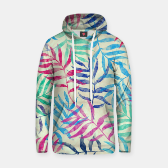 Imagen en miniatura de Watercolor Tropical Palm Leaves  Cotton hoodie, Live Heroes