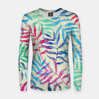 Imagen en miniatura de Watercolor Tropical Palm Leaves  Woman cotton sweater, Live Heroes
