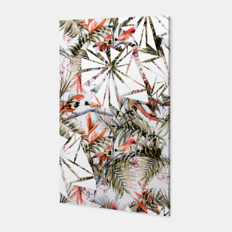 Miniaturka Exotic birds in the jungle paradise Canvas, Live Heroes