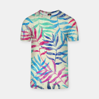Imagen en miniatura de Watercolor Tropical Palm Leaves  T-shirt, Live Heroes