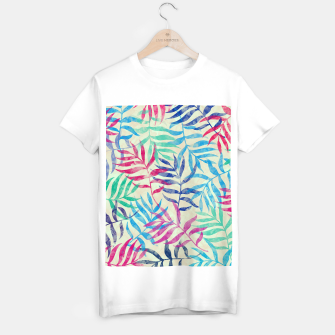 Imagen en miniatura de Watercolor Tropical Palm Leaves  T-shirt regular, Live Heroes