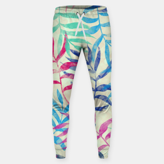 Imagen en miniatura de Watercolor Tropical Palm Leaves  Cotton sweatpants, Live Heroes