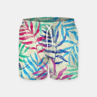 Imagen en miniatura de Watercolor Tropical Palm Leaves  Swim Shorts, Live Heroes