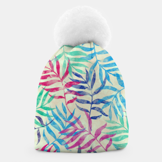 Imagen en miniatura de Watercolor Tropical Palm Leaves  Beanie, Live Heroes