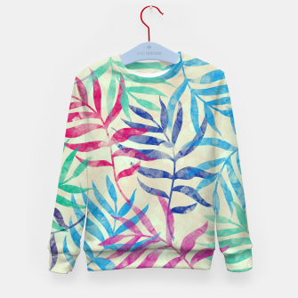 Imagen en miniatura de Watercolor Tropical Palm Leaves  Kid's sweater, Live Heroes