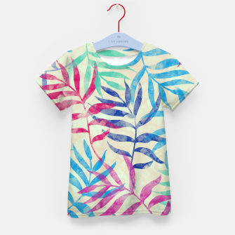 Imagen en miniatura de Watercolor Tropical Palm Leaves  Kid's t-shirt, Live Heroes