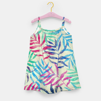 Imagen en miniatura de Watercolor Tropical Palm Leaves  Girl's dress, Live Heroes