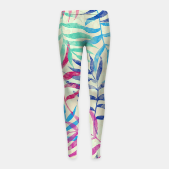 Imagen en miniatura de Watercolor Tropical Palm Leaves  Girl's leggings, Live Heroes
