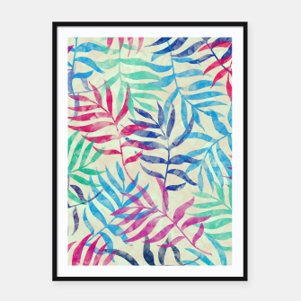 Imagen en miniatura de Watercolor Tropical Palm Leaves  Framed poster, Live Heroes