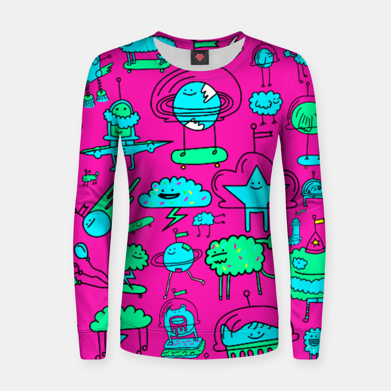 Zdjęcie Super Space Party Woman cotton sweater - Live Heroes