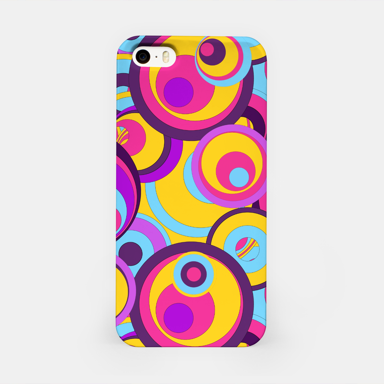 Image of  Retro Circles Groovy Colors iPhone Case - Live Heroes