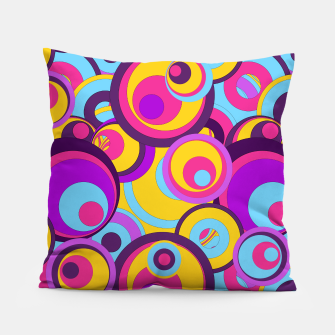 Retro Circles Groovy Colors Pillow thumbnail image
