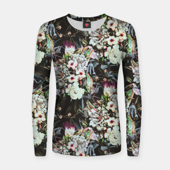 Thumbnail image of Dark flowery colorful bouquet Sudadera de algodón para mujer, Live Heroes