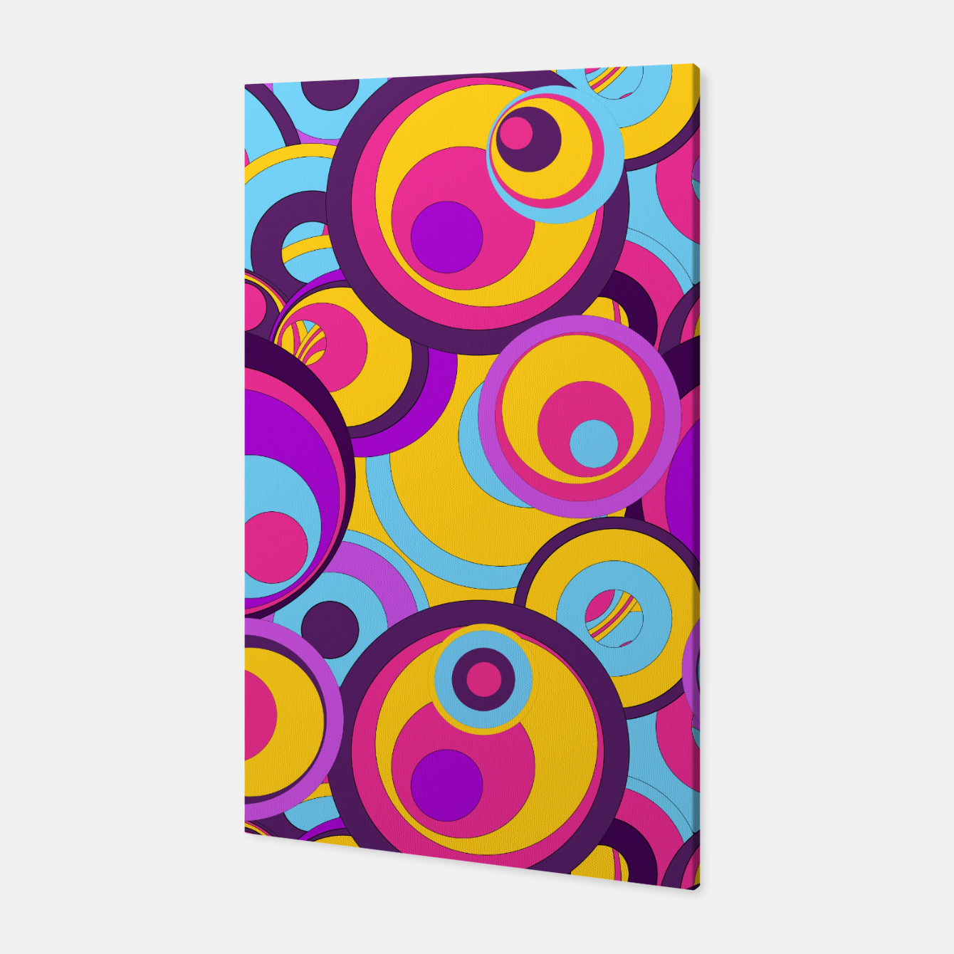 Image of  Retro Circles Groovy Colors Canvas - Live Heroes
