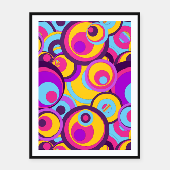 Thumbnail image of  Retro Circles Groovy Colors Framed poster, Live Heroes