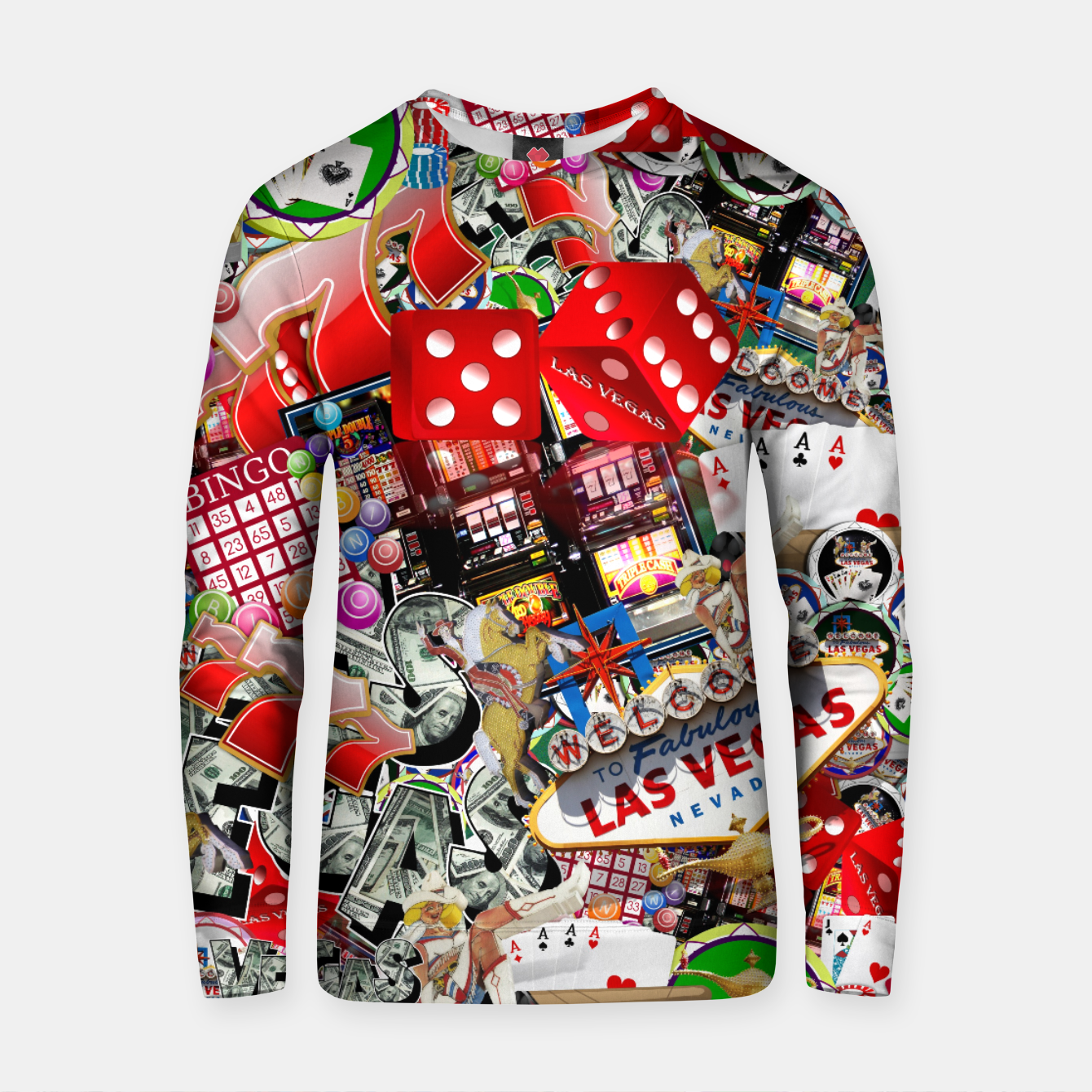 Image of Gamblers Delight - Las Vegas Icons Cotton sweater - Live Heroes