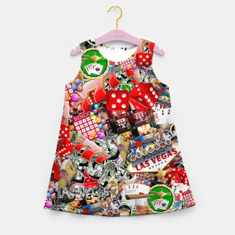 Thumbnail image of Gamblers Delight - Las Vegas Icons Girl's summer dress, Live Heroes
