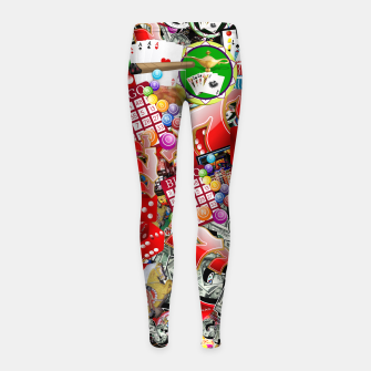 Thumbnail image of Gamblers Delight - Las Vegas Icons Girl's leggings, Live Heroes