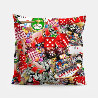 Thumbnail image of Gamblers Delight - Las Vegas Icons Pillow, Live Heroes