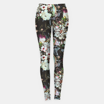 Thumbnail image of Dark flowery colorful bouquet Leggings, Live Heroes