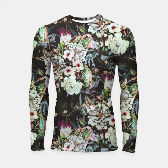 Thumbnail image of Dark flowery colorful bouquet Longsleeve rashguard, Live Heroes