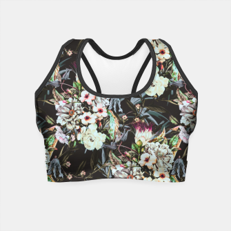 Thumbnail image of Dark flowery colorful bouquet Crop Top, Live Heroes