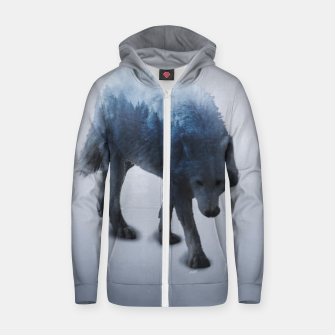 Thumbnail image of Hungry Cotton zip up hoodie, Live Heroes