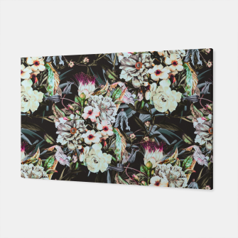 Thumbnail image of Dark flowery colorful bouquet Canvas, Live Heroes