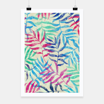 Imagen en miniatura de Watercolor Tropical Palm Leaves  Poster, Live Heroes