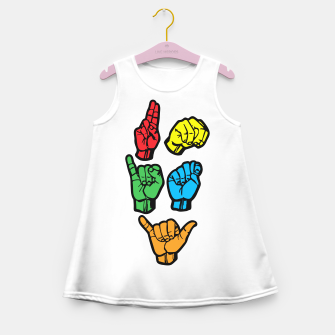 Miniature de image de UNITY Girl's summer dress, Live Heroes