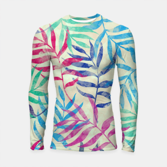 Imagen en miniatura de Watercolor Tropical Palm Leaves  Longsleeve rashguard , Live Heroes