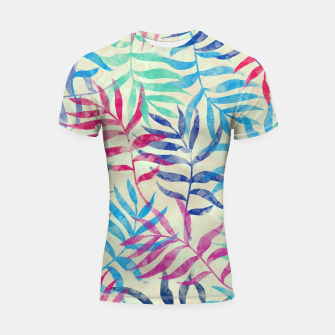 Imagen en miniatura de Watercolor Tropical Palm Leaves  Shortsleeve rashguard, Live Heroes