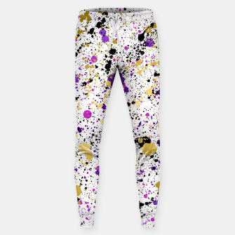 Thumbnail image of Colorful Paint Splatter Cotton sweatpants, Live Heroes