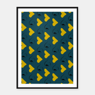 Miniaturka Yellow Lips Framed poster, Live Heroes