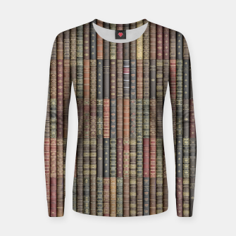 Miniatur Keep Reading Woman cotton sweater, Live Heroes