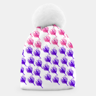 Thumbnail image of Designers beanie with weeds pink purple, Live Heroes