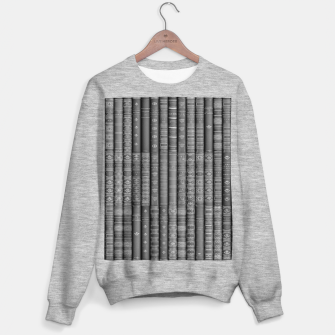 Thumbnail image of Keep Reading B&W Sweater regular, Live Heroes