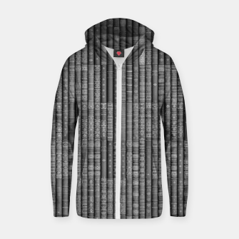 Keep Reading B&W Cotton zip up hoodie thumbnail image